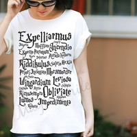 Magic spell Harry Potter style - Premium cotton Crop tank, Tank Top, T-shirt, Long sleeve, unisex shirt, women tank, girl tank