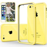 Caseology Apple iPhone 5C [Premium Fusion Series] - Slim Fit Hybrid Scratch-Resistant Clear back thin Cover with Shock Absorbent TPU Protector Bumper Case (Yellow) [Made in Korea] (for Verizon, AT&T Sprint, T-mobile, Unlocked)