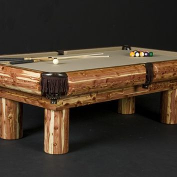 Red Cedar Pool Table | Rustic Billiard Table