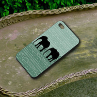 Pattern Aztec Two Elephant Case - Iphone 4/4s Iphone 5 and Samsung Galaxy S3 / S4