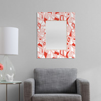 Heather Dutton Fragmented Flame Rectangular Mirror