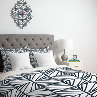 Heather Dutton Facets Optic Duvet Cover