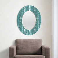 Heather Dutton Bestrewn Lagoon Oval Mirror