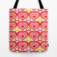 Groovy Kind Of Love Tote Bag by Heather Dutton
