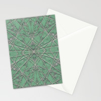 Snowflake Mint Stationery Cards by Project M