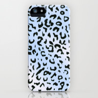 Wild Blue Cheetah iPhone & iPod Case by Catherine Holcombe