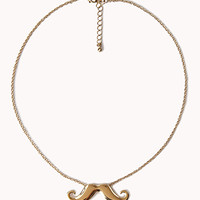 Mustache Charm Necklace