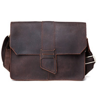 "Vintage Handmade Antique Crazy Horse Leather Messenger Bag / 11"" MacBook Satchel / iPad Bag(z12)"