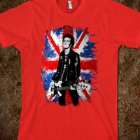 Sid Vicious With British flag TEE TSHIRT