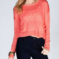 FULL TILT 2 Pocket Womens Tulip Back Sweater