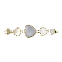 Multi-Stone Triangle-Station Bracelet, Mist