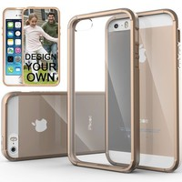 iPhone 5S Case, Caseology [Clearback Bumper] Apple iPhone 5/5S Case [DIY Customization] [Beige] Scratch-Resistant Clear Back Cover [Drop Protection] TPU Hybrid Fusion Best Apple iPhone 5/5S clear case (for Apple iPhone 5/5S Verizon, AT&T Sprint, T-mobile,