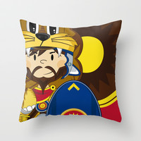 Roman Soldier Throw Pillow by markmurphycreative