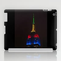 Empire State At Night iPad Case by Steve Purnell