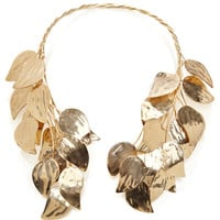 Esme Vie Birch Leaves Gold Necklace by Esme Vie for Preorder on Moda Operandi