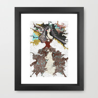 Crash Framed Art Print by Müge Başak