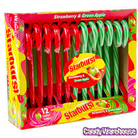 Starburst Candy Canes: 12-Piece Box