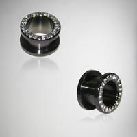 Black Cubic Zirconia Tunnel Set