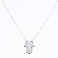 Hamsa Hand Charm Necklace at Urban Outfitters