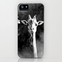 portrait of giraffe iPhone & iPod Case by Marianna Tankelevich