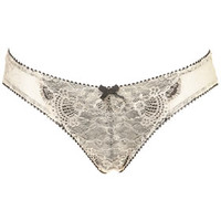 Double Eyelash Lace Thong