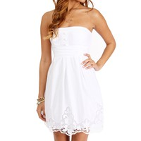 SALE-White Embroidered Sundress