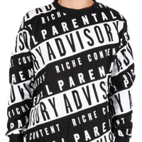 PARENTAL ADVISORY CREWNECK SWEATSHIRT
