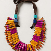 Tagua Fan Necklace