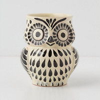 Hand-Painted Folk Owl Mug