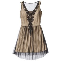Xhilaration® Juniors Mesh Dot Overlay Dress - Assorted Colors