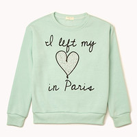 Left My Heart In Paris Sweatshirt (Kids)