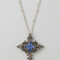Belle Epoque 18k Couture Diamond Cross Pendant Necklace