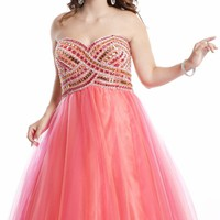 Open Back Sweetheart Gown by Party Time Plus