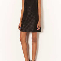 QUILTED SHIFT PU DRESS