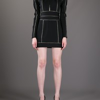BALMAIN contrast trim mini-dress