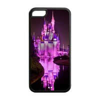 Cool Design Disney Castle Back Cover Cheap Custom Case for iPhone 5c 5c-AX924144