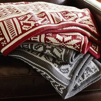 MARTIN FAIR ISLE COZY KNIT THROW