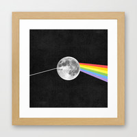 Dark Side of the Moon. Framed Art Print by Nick Nelson