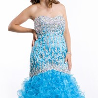 Taffeta Organza Gown by Party Time Plus