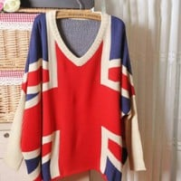 VINTAGE LOOSE FLAG SWEATER