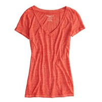AE REAL SOFT FAVORITE V-NECK BURNOUT T-SHIRT