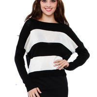 BACK BUTTON STRIPE KINT TOP