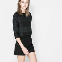 SWEATER WITH THREE QUARTER LENGTH SLEEVES