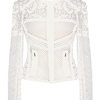 Frozen Lace Jacket | White Crochet Dolce & Gabbana Outerwear | Rickety Rack