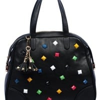 ON SALE Vieta Peyton Rocker Chic Pastel Pyramid Studded Tote Satchel Handbag Purse, Colors Available