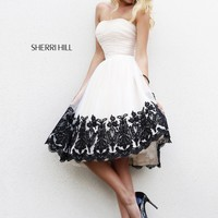 Sherri Hill 11092 Strapless Cocktail Dress