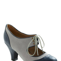 ModCloth 30s The Best of Times Heel in Grey