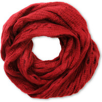 D&Y Dark Red Oval Open Knit Infinity Scarf