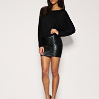 ASOS Sequin Skirt Band T-Shirt Dress ($20-50)
