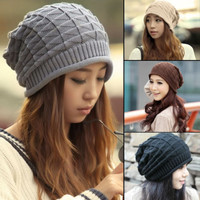 Unisex Accessory Winter Must-have Xmas Beanie Hats Crochet Knitting Caps Warm